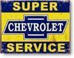 ★よりどり3点送料無料★アメリカン雑貨★看板★直輸入★Super Chevy Service(レトロシリーズ)