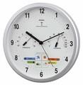 【温湿度計付お天気電波時計】ウェザーパル電波時計1台4役
