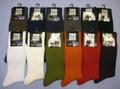 定番商品■紳士カラーリブ■ クルーソックス 14色 日本製