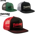 スケーター系のブランド【THRASHER】 LOGO EMBROIDERED MESH