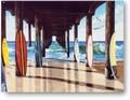 ★よりどり3点送料無料★アメリカン雑貨★看板★直輸入★波乗り系:桟橋の下のサーフボード