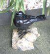 【ガーデン用品・オブジェ】ギフトにぴったり♪小鳥モチーフの置物 「バード オン ストーン」