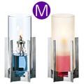 【オイルランプ】<サイズM>モダンデザインのステンレスベースオイルランプ