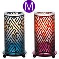 【オイルランプ】<サイズM>和柄プリントガラスのランプ
