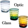 【大特価】【イタリア製食器】 中タンブラー Optic (3色)【在庫限り】