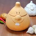 ポルトガル製 オニオンポット【オニオンマン】可愛い テラコッタ製 野菜保存容器 (たまねぎ)
