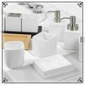 シンプルな四角い洗面・トイレ小物 【ホワイトキューブ】