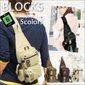 人気のブラック即納!◆BLOCKS  ミニ ボディーバッグ メンズ レディース キャンバス ワンショルダー