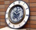 アンティーク花柄-装飾【-掛け時計(ローマ数字)-】アイアンフレーム壁掛け時計