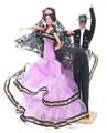 【スペイン製】Marin社 ペア フラメンコドール ピンク フラメンコ衣装 人形