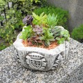 使い込む程味が出ます【Gardening Spanish Stone】スペイン製ガーデニング砂岩アシュトレイ八角タイプ