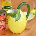 イタリア製 食器 陶器製 レモン 型 ジャグ 水差し ピッチャー カラフェ 約600cc