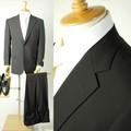 夏ものシングル2Bブラックスーツ・喪服・礼服・エコブラックフォーマル上下【日本製】喪服礼服
