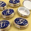 豪華なスワロフスキー使用! アルファベットシリーズ ブルー 【イタリアのお洒落なピルケース】