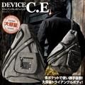 斬新な形のボディーバッグ!■DEVICE C.E トライアングル ボディバッグ / 帆布/メンズ/ワンショルダー