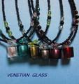 ★【イタリア】ヴェネチアングラス!手作りネックレス(イタリアベネチアングラス)