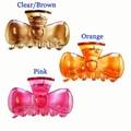 使いやすさバツグン♪♪【リボンモチーフ】 ☆クリア6色☆ カラープラスチックバンス