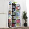 本棚 低ホルムアルデヒド・日本製 DVDラック CD・コミック本棚ストッカー収納庫 ホワイト