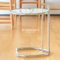 【アイリーン・グレイ】 E1027 サイドテーブル ガラステーブル クローム