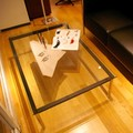 【ル・コルビジェ】 LC10 120x80cm コーヒーテーブル ガラステーブル センターテーブル