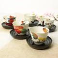 ■売筋商品■美濃焼ギフト■和藍 花かいろう茶托付煎茶