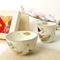 ■美濃焼ギフト■和藍 花かいろう木蓮飯碗湯呑(ちりめん木箱)