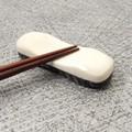 水牛角箸置/両面 (黒/白)