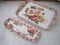 薔薇柄のメラミントレー低価格で人気 バラ ラベンダー追加