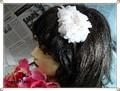 SALE シフォン生地でやさしい雰囲気のお花のカチューシャ