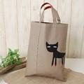 《まつげ猫シリーズ》A4サイズのトートバッグ☆レッスンバッグ・サブバッグに