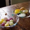 【3色展開】《水玉ぷれーと》爽やかなガラスにキュートなドット模様が可愛い新定番♪