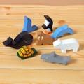【ささくれ・割れが起こりにくい】木製フィギュアセット(8 Sea Animals)