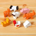 【ささくれ・割れが起こりにくい】木製フィギュアセット(8 Farm Animals)