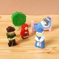 【ささくれ・割れが起こりにくい】木製フィギュアセット(赤ずきん)