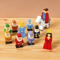 【ささくれ・割れが起こりにくい】木製フィギュアセット(白雪姫と7人の小人)