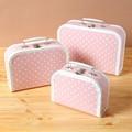 【見せる収納にもオススメ♪】子供用スーツケース 水玉(ピンク)