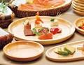 【キッチン】白木口取皿/ディナー皿 (スタッキング)