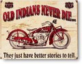 ★よりどり3点送料無料★アメリカン雑貨★看板★インディアンモーターサイクル★OLD INDIAN NEVER DIE★