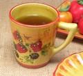 【ポルトガル製】陶器 手描き ストロベリー フルーツ柄 マグカップ イエロー  ギフト 需要に おすすめ