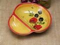 【ポルトガル製】 陶器 手描き ストロベリー フルーツ柄 ヨーロッパ コンビトレイ イエロー 小鉢