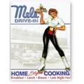 ★よりどり3点送料無料★アメリカン雑貨★看板★Mel's Drive-In★メルズドライブイン・ローラーガール