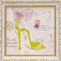 ミニ ゲル アートフレーム【低単価アート】靴/シューズ柄<樹脂フレーム>