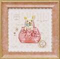 ミニ ゲル アートフレーム【低単価アート】ドック/犬/バック/鞄柄<樹脂フレーム>