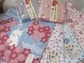 和風 ウサギのガーゼタオル 日本製 桜ウサギ 京都