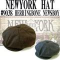 NEWYORK HAT # 9038  HERRINGBONE  NEWSBOY  14114