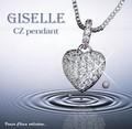 ジュエリーの仕上がり!人気のベネチアチェーン CZダイヤモンドペンダント 「ロゼッタ」