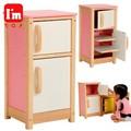 「知育玩具」(木のおもちゃ) I'mTOY「マイプレイキッチン 冷蔵庫」