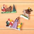 【おとぎ話の世界へ☆】ドイツ製ブローチ(赤ずきんちゃん)・(ブレーメンの音楽隊)・(白雪姫)