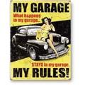 ★よりどり3点送料無料★アメリカン雑貨★看板★ガレージの中では俺が法律!★MY GARAGE MY RULES