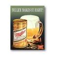 ★よりどり3点送料無料★アメリカン雑貨★看板★ミラービール★美味しそうな生ビール★Makes it Right